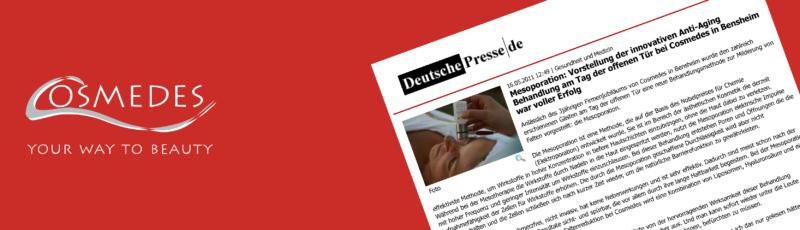 """Banner Presse Deutsche Presse """"Mesoporation"""""""