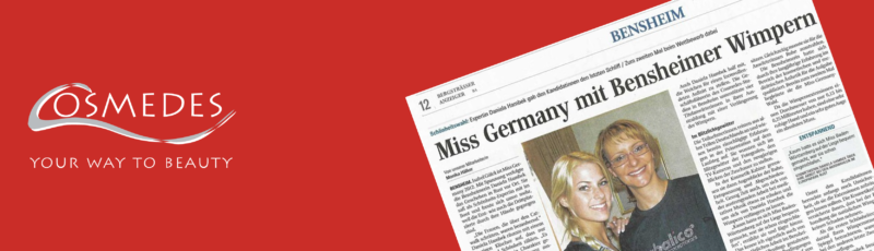 "Banner Presse Bergsträßer Anzeiger ""Miss Germany mit Bensheimer Wimpern"""