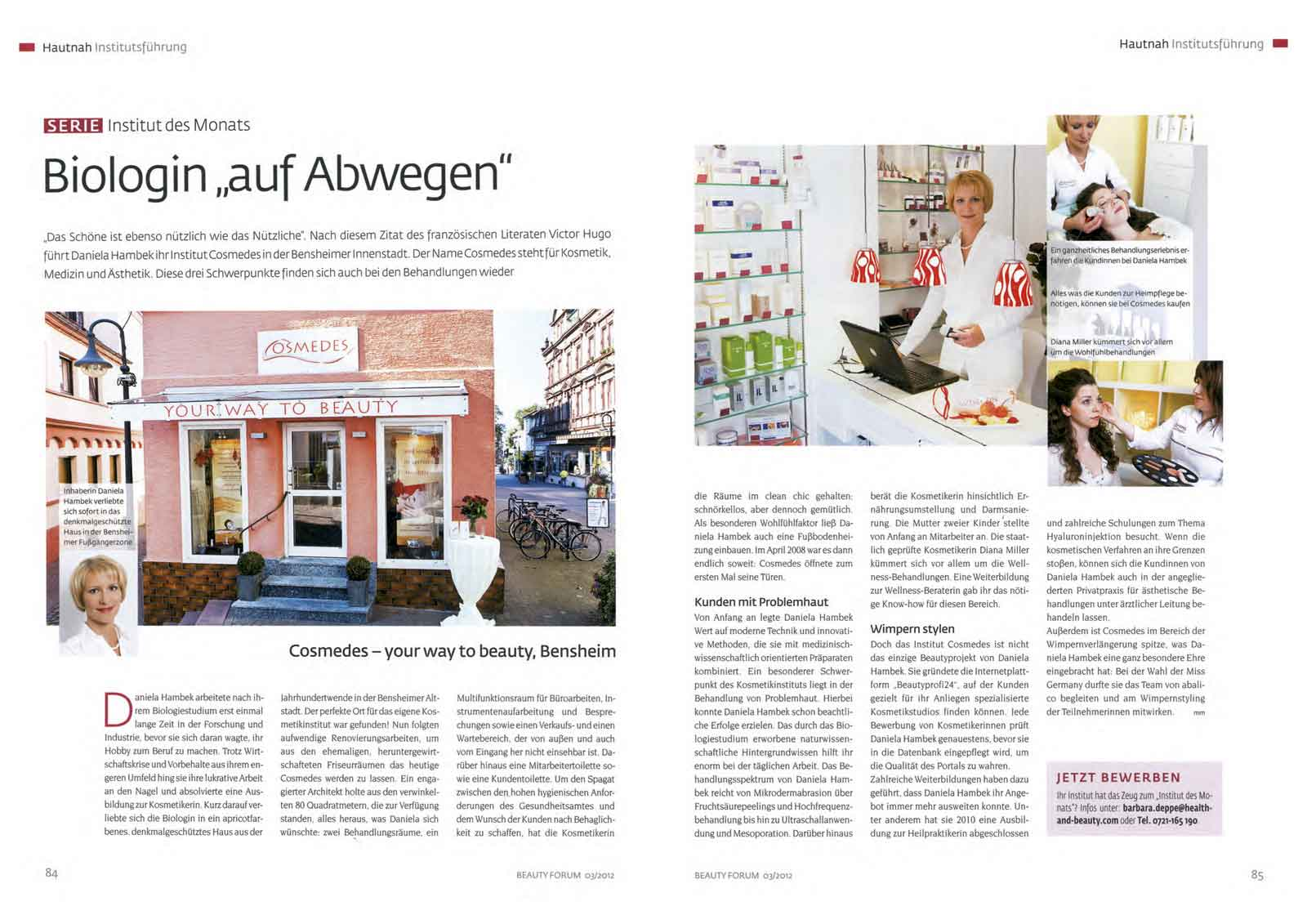 "Presse Beauty Forum ""Biologin auf Abwegen"""