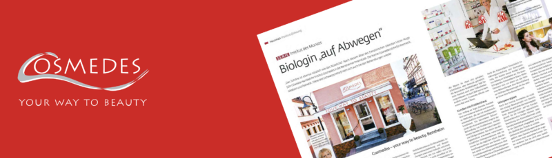 """Banner Presse Beauty Forum """"Biologin auf Abwegen"""""""